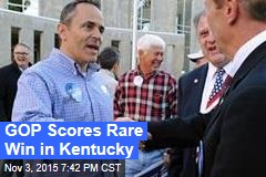 GOP Scores Rare Win in Kentucky