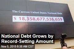 National Debt Grows by Record-Setting Amount