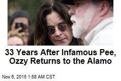 33 Years After Infamous Pee, Ozzy Returns to the Alamo