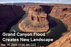 Grand Canyon Flood Creates New Landscape