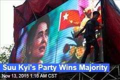 Suu Kyi's Party Wins Majority