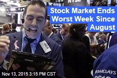 Stock Market Ends Worst Week Since August