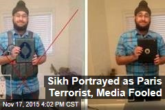 Sikh Portrayed as Paris Terrorist, Media Fooled