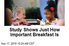 Study Shows Just How Important Breakfast Is