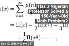 Has a Nigerian Professor Solved a 156-Year-Old Math Problem?
