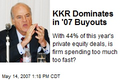 KKR Dominates in '07 Buyouts