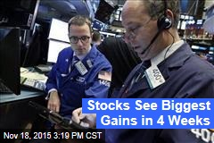 Stocks See Biggest Gains in 4 Weeks
