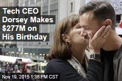 Tech CEO Dorsey Makes $277M on His Birthday