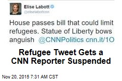 Refugee Tweet Gets a CNN Reporter Suspended
