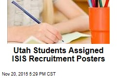 Utah Students Assigned ISIS Recruitment Posters