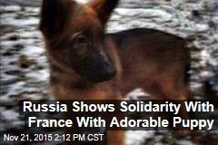 Russia Shows Solidarity With France With Adorable Puppy