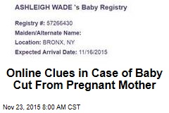 Online Clues in Case of Baby Cut From Pregnant Mother