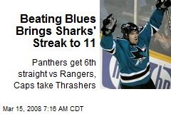 Beating Blues Brings Sharks' Streak to 11