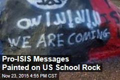 Pro-ISIS Messages Found at US School