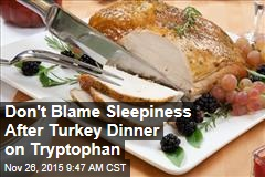 Don't Blame Sleepiness After Turkey Dinner on Tryptophan