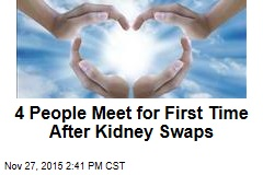 4 People Meet for First Time After Kidney Swaps