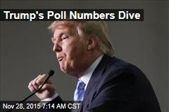 Trump's Poll Numbers Dive