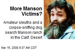 More Manson Victims?