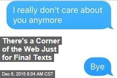 There's a Corner of the Web Just for Final Texts