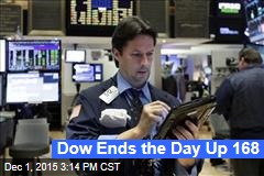 Dow Ends the Day Up 168