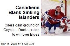 Canadiens Blank Sinking Islanders