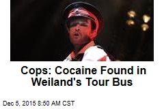 Cops: Cocaine Found in Weiland's Tour Bus