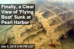 Finally, a Clear View of 'Flying Boat' Sunk at Pearl Harbor