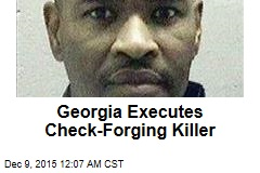 Georgia Executes Check-Forging Killer