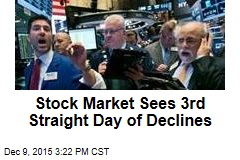 Stock Market Sees 3rd Straight Day of Declines