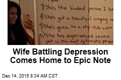 Wife Battling Depression Comes Home to Epic Note