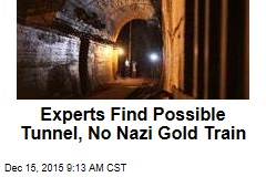Experts Find Possible Tunnel, No Nazi Gold Train