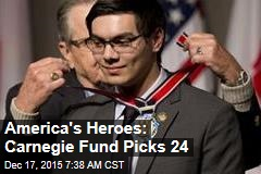 America's Heroes: Carnegie Fund Picks 24