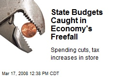 State Budgets Caught in Economy's Freefall