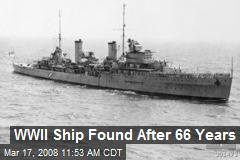 WWII Ship Found After 66 Years