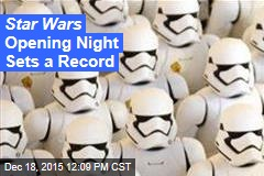 Star Wars Opening Night Sets a Record