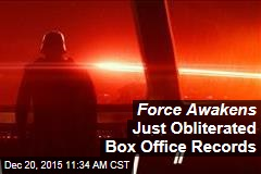 Force Awakens Just Obliterated Box Office Records