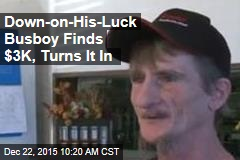 Down-on-His-Luck Busboy Finds $3K, Turns It In