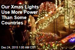 Our Xmas Lights Use More Power Than Some Countries