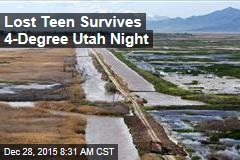 Lost Teen Survives 4-Degree Utah Night