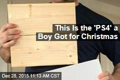 This Is the 'PS4' a Mass. Boy Got for Christmas