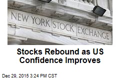Stocks Rebound as US Confidence Improves