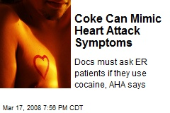 Coke Can Mimic Heart Attack Symptoms