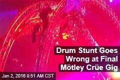 Drum Stunt Goes Wrong at Final Mötley Crüe Gig