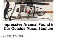 Impressive Arsenal Found in Car Outside Mass. Stadium