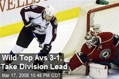 Wild Top Avs 3-1, Take Division Lead