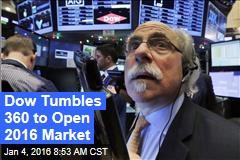 Dow Tumbles 360 to Open 2016 Market