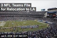 3 NFL Teams File for Relocation to LA