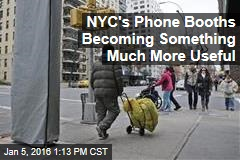 NYC's Phone Booths Becoming Something Much More Useful