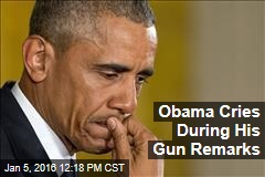 Obama Cries During His Gun Remarks
