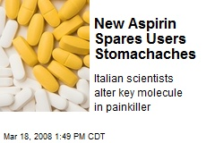 New Aspirin Spares Users Stomachaches